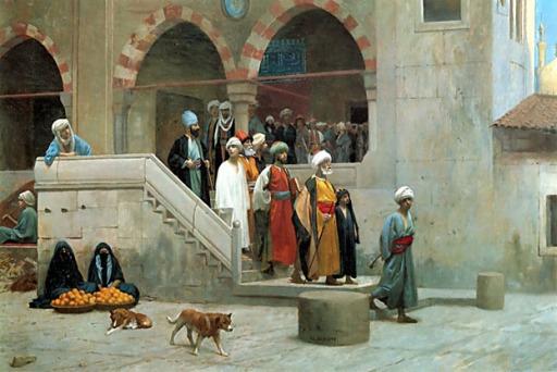 مغادرة المسجد بعد الصلاة