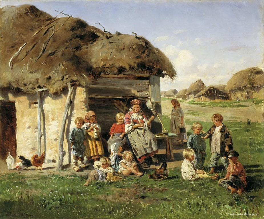 makovskiy_vladimir_peasant_children_1890
